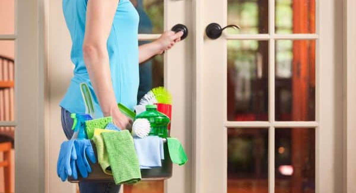 maid entering home